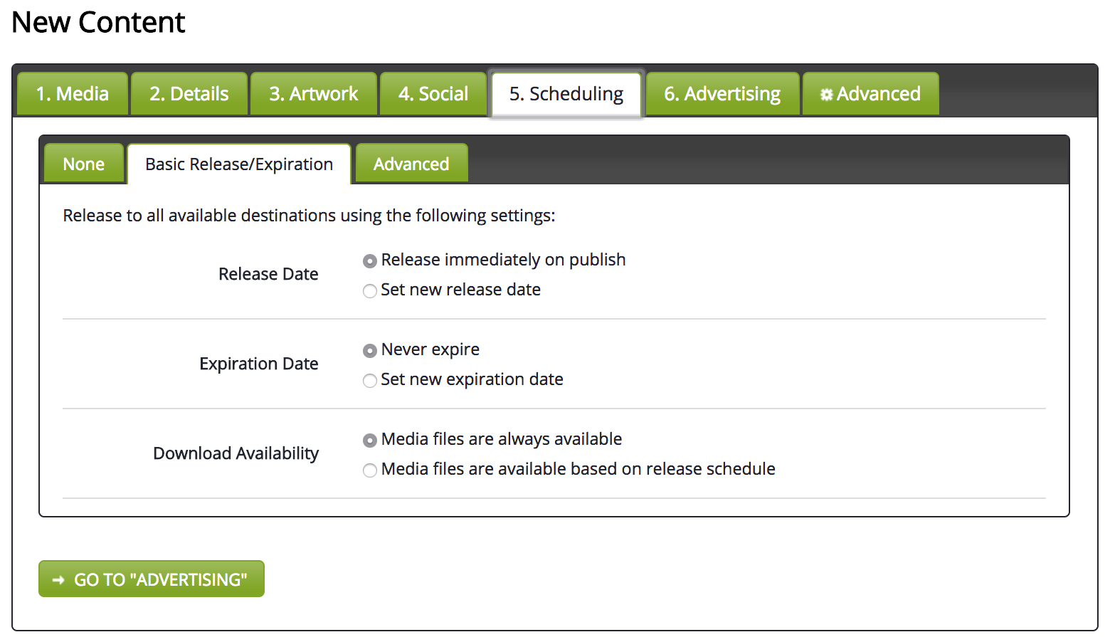 Scheduling Release - Basic