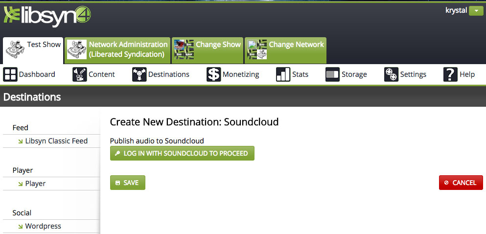 Soundcloud – Libsyn Support