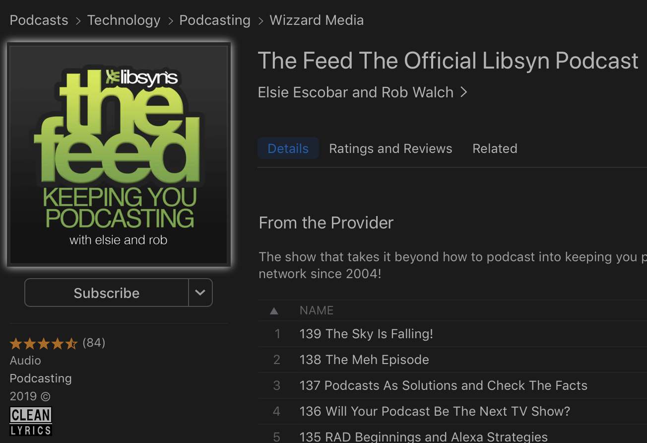 Show Image in Apple Podcasts