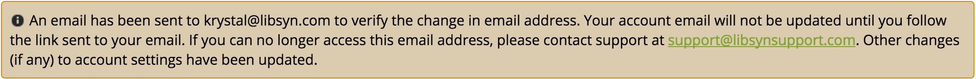 Confirming the E-Mail Change