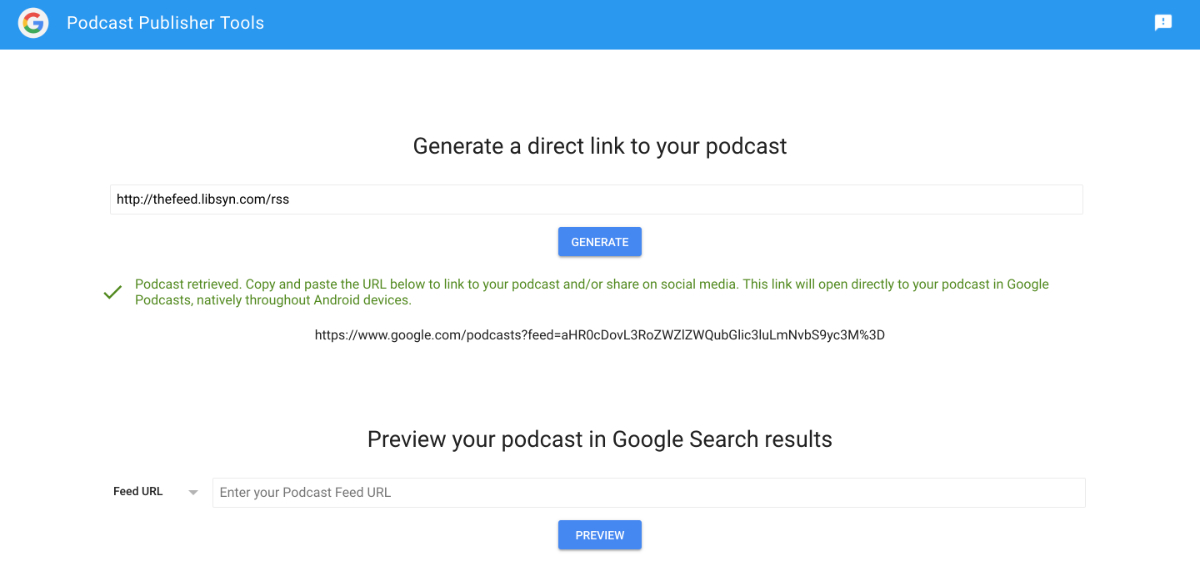 Google Podcasts – Libsyn Support