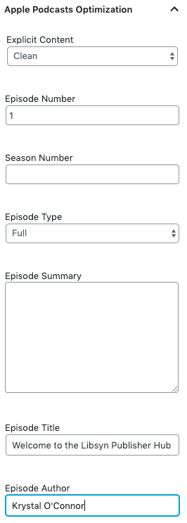 Apple Podcasts Optimization Tags