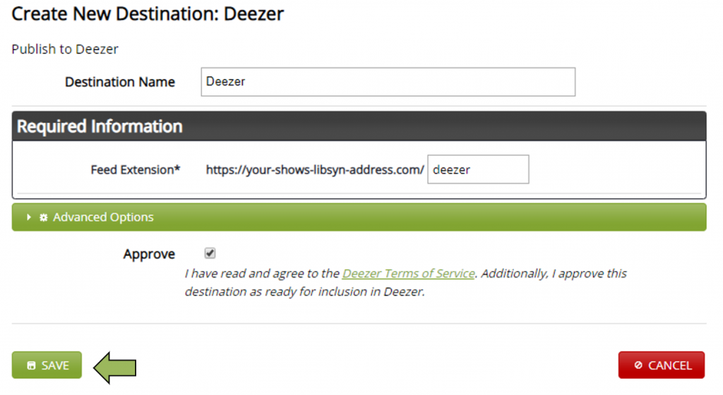 Deezer Submission Approval